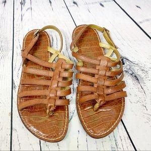 Sam Edelman Brown Garland Strappy Sandals